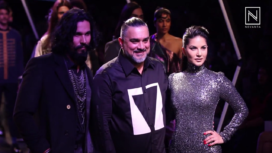 Sunny Leone and Randeep Hooda Walk For Splash at Lakme Fashion Week WF 2017