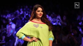 Plus Size Actress Anjali Anand Walks for Wendell Rodricks at Lakme Fashion Week WF 2017