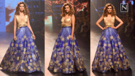 Esha Gupta Showstops for Amit Aggarwal at Lakme Fashion Week Winter Festive 2017