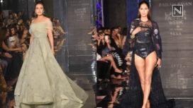 Preity Zinta and Ujjwala Raut Showstops for the Peacocks at Lakme Fashion Week WF 2017