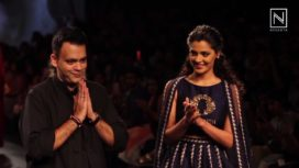 Saiyami Kher Turns Muse for Nachiket Barve at Lakme Fashion Week Winter Festive 2017