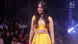 Saina Nehwal Walks for Neeta Lulla at Bangalore Times Fashion Week 2017