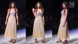 Nidhhi Agerwal Walks for Rina Dhaka at Amazon India Fashion Week SS 2018