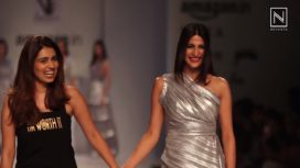 Aahana Kumra Turns Muse for Nikhita Taandon at Amazon India Fashion Week SS 2018