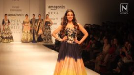 Divya Khosla Kumar Stuns as Showstopper for Charu Parashar at Amazon India Fashion Week SS 18