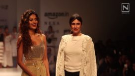 Nidhhi Agerwal Turns Muse for Rina Dhaka at Amazon India Fashion Week SS 2018
