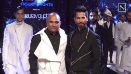 Shahid Kapoor Walks The Ramp for Gaurav Gupta at GQ Fashion Nights 2017