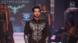 Arjan Bajwa Walks for Nivedita Saboo at the Grand Finale of Pune Fashion Week 2017