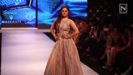 Ginni Wadhwa and her Muse Rashami Desai at Pune Fashion Week 2017