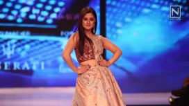 Rashami Desai Walks for Ginni Wadhwa on Day 1 of Pune Fashion Week 2017