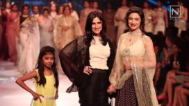 Divya Khosla Kumar Inspired by Madhubala for Rina Dhaka at Pune Fashion Week 2017