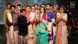 Lopamudra Raut and Noyonita Lodh Walk for Ashok Maanay at PFW 2017