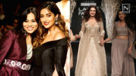 Designers and their Showstoppers- Dia Mirza and Ileana D'Cruz at LFW WF 2017