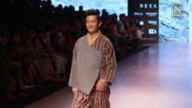 Bhaichung Bhutia Walks for Label Kuzu at Lakme Fashion Week SR 2018