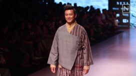 Bhaichung Bhutia Walks for Kuzu at Lakme Fashion Week SR 2018