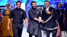 Saif Ali Khan Turns Showstopper for Shantanu & Nikhil at Lakme Fashion Week SR 18