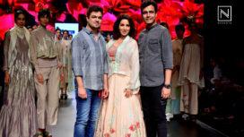Tisca Chopra Walks for Vineet Rahul at Lakme Fashion Week SR 2018
