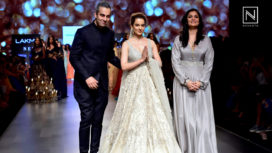 Kangana Ranaut Graces the Runway for Shyamal and Bhumika at Lakme Fashion Week SR 18