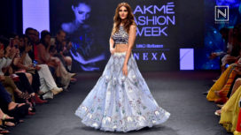 Vaani Kapoor Impresses as Showstopper for Neha Agarwal at Lakme Fashion Week SR 18