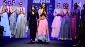 Nidhhi Agerwal Turns the Showstopper for Shloka Sudhakar at Lakme Fashion Week SR 18