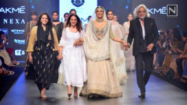 Sushmita Sen Takes Centre Stage for Kotwara at Lakme Fashion Week SR 2018