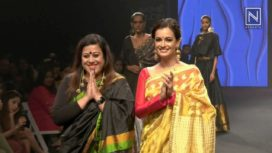 Dia Mirza Turns Showstopper for Sanjukta Dutta at Lakme Fashion Week SR 18