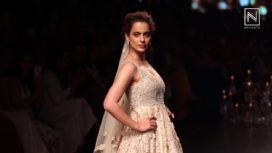 Kangana Ranaut Turns Perfect Muse for Shyamal and Bhumika at Lakme Fashion Week SR 18