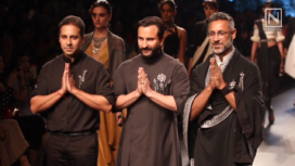 Saif Ali Khan Exudes Royalty for Shantanu & Nikhil at Lakme Fashion Week SR 2018
