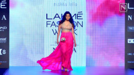 Saiyami Kher Walks for Nishka Lulla at Lakme Fashion Week Summer Resort 2018
