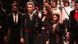 Sonakshi Sinha and Karan Johar Turn Showstoppers for Lakme Fashion Week SR 18