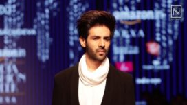 Kartik Aaryan Walks for Pawan Sachdeva at Amazon India Fashion Week AW 2018