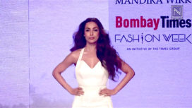 Malaika Arora Walks for Mandira Wirk at Bombay Times Fashion Week 2018