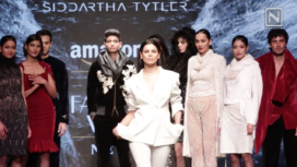 Neha Kapur Walks for Siddartha Tytler at Amazon India Fashion Week Autumn Winter 2018