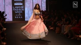 Nidhhi Agerwal Walks The Ramp for Shloka Sudhakar at Lakme Fashion Week SR 18