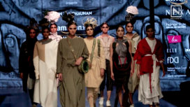 Nitin Bal Chauhan Showcases at Amazon India Fashion Week Autumn Winter 2018