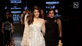 Rhea Chakraborty Walks for Rina Dhaka on Day 2 of Amazon India Fashion Week AW 2018