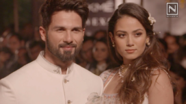 Shahid Kapoor and Mira Rajput Walk for Anita Dongre at Lakme Fashion Week SR 18
