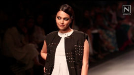 Swara Bhasker Dazzles as a Showstopper for Crow at Lakme Fashion Week SR 2018
