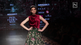 Diana Penty Walks for Shyamal & Bhumika at Amazon India Fashion Week AW 2018