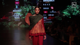 Anju Modi Showcases at Amazon India Fashion Week Autumn Winter 2018