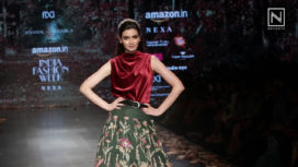 Diana Penty Walks for Shyamal & Bhumika at Amazon India Fashion Week Autumn Winter 2018