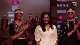 Eshaa Amiin Showcases at Amazon India Fashion Week Autumn Winter 2018