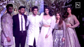 Ishaan Khattar and Malavika Mohanan Walk for Falguni Shane Peacock at BTFW 2018