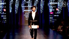 Kartik Aaryan Turns Showstopper for Pawan Sachdeva at Amazon India Fashion Week AW 18