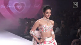 Kiara Advani Walks for Shubhika at Bombay Times Fashion Week 2018