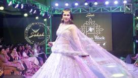 Mannara Chopra Walks for Sahah by Lakshmi at Andhra Pradesh Fashion Week 2018