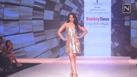 Sonakshi Sinha Shimmers in Nandita Mahtani at Bombay Times Fashion Week 2018