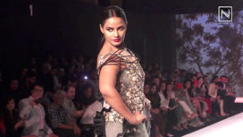 Neetu Chandra Walks for Tasneem Merchant at Bombay Times Fashion Week 2018