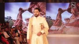 Kannada Actor Karthik Jayaram Walks for Chola at Bangalore Times Fashion Week 2018