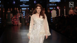 Rhea Chakraborty Talks About Rina Dhaka at Amazon India Fashion Week AW 18